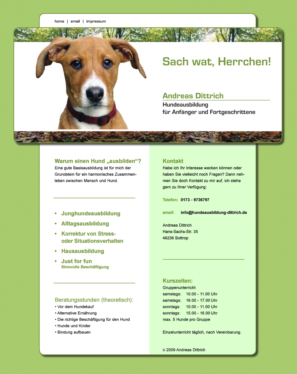 Hundetraining mit Andreas Dittrich